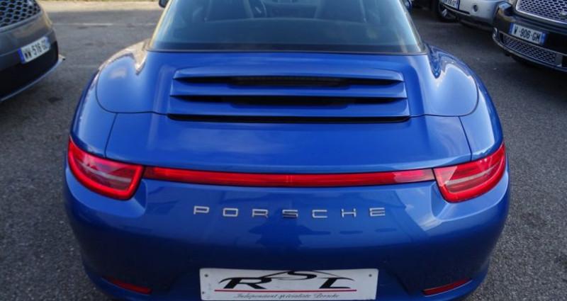 Porsche 911 Type 991 991 TARGA 4 PDK / XLF BI XENON APPLE CAR PLAY Bleu occasion à CHASSIEU - photo n°7