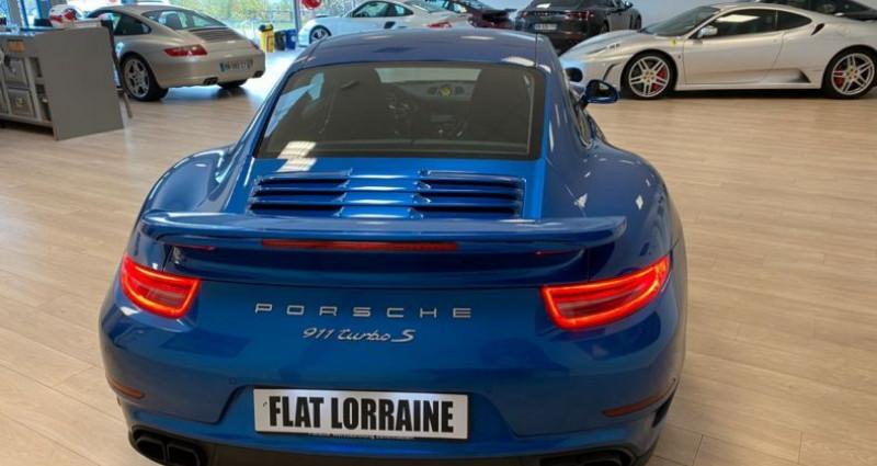Porsche 911 Type 991 991 Turbo S Bleu occasion à MARLY - photo n°4