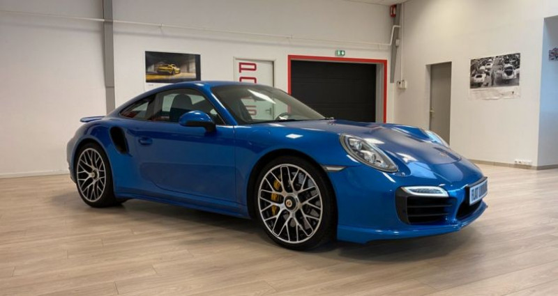 Porsche 911 Type 991 991 Turbo S Bleu occasion à MARLY - photo n°2