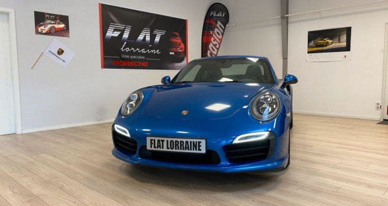 Porsche 911 Type 991 991 Turbo S Bleu occasion à MARLY - photo n°3