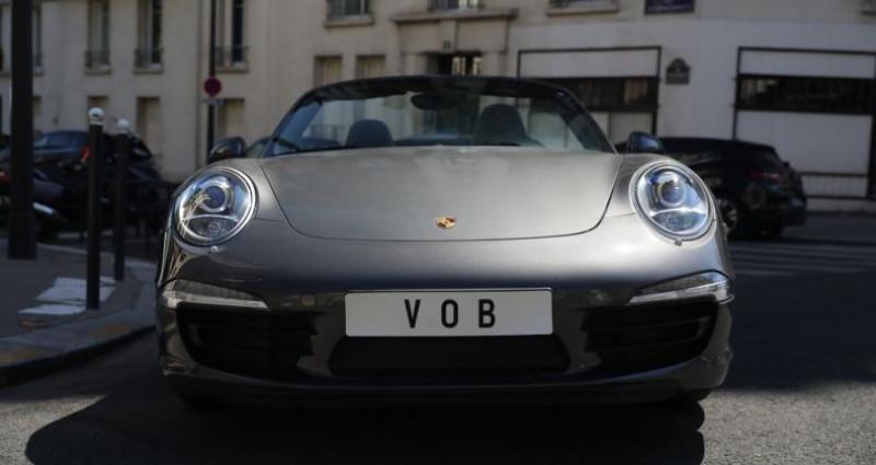 Porsche 911 Type 991 PORSCHE 991 CARRERA 4S CABRIOLET 59700KMS PDK 400CV Gris occasion à BOULOGNE BILLANCOURT - photo n°2