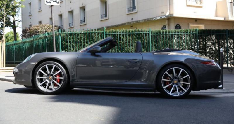 Porsche 911 Type 991 PORSCHE 991 CARRERA 4S CABRIOLET 59700KMS PDK 400CV Gris occasion à BOULOGNE BILLANCOURT - photo n°3