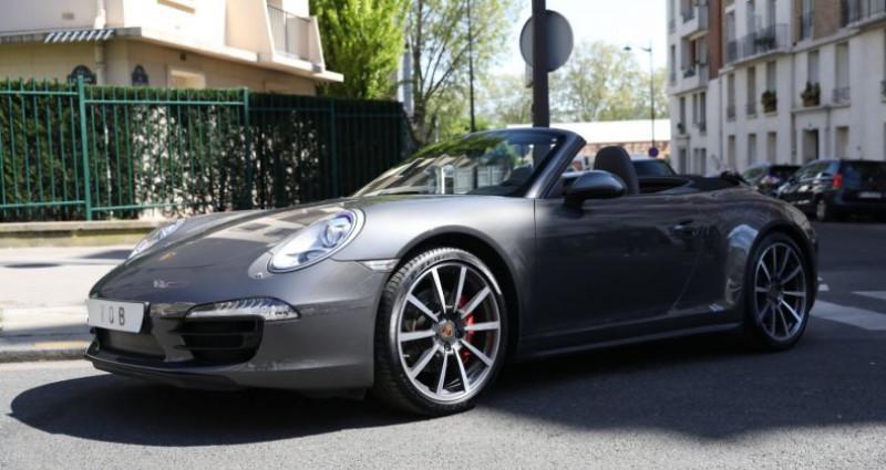 Porsche 911 Type 991 PORSCHE 991 CARRERA 4S CABRIOLET 59700KMS PDK 400CV Gris occasion à BOULOGNE BILLANCOURT