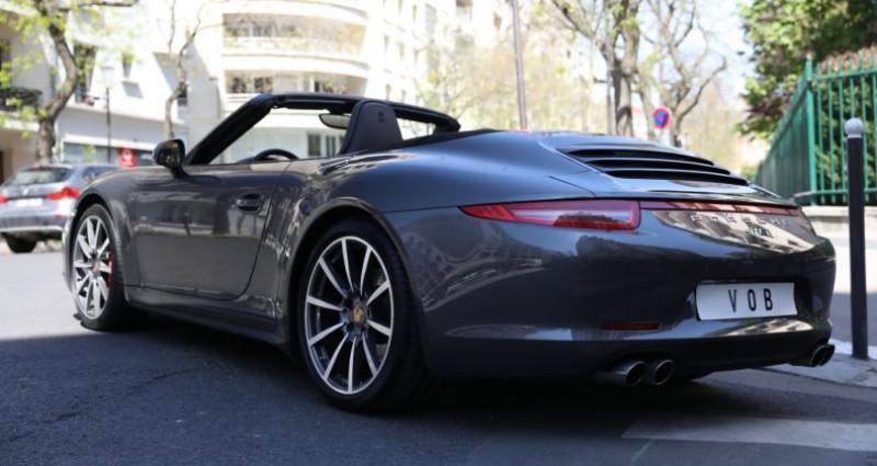 Porsche 911 Type 991 PORSCHE 991 CARRERA 4S CABRIOLET 59700KMS PDK 400CV Gris occasion à BOULOGNE BILLANCOURT - photo n°4