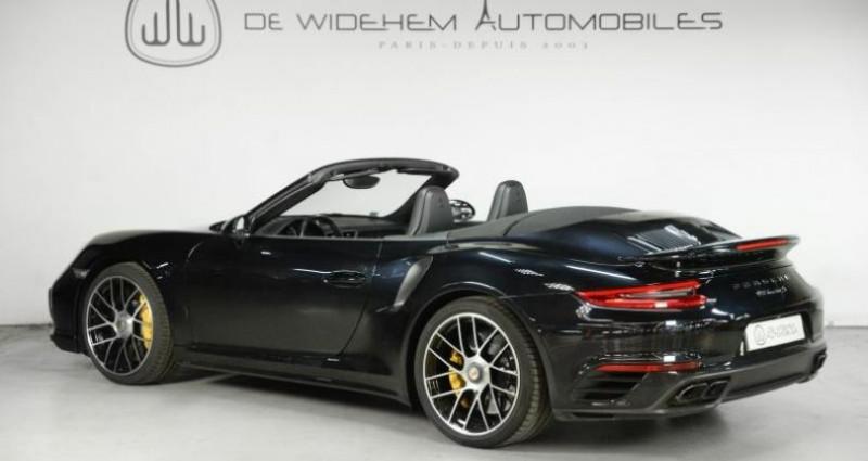 Porsche 911 Type 991 TYPE 991 .2 TURBO S CABRIOLET 580CH Noir occasion à Paris - photo n°2