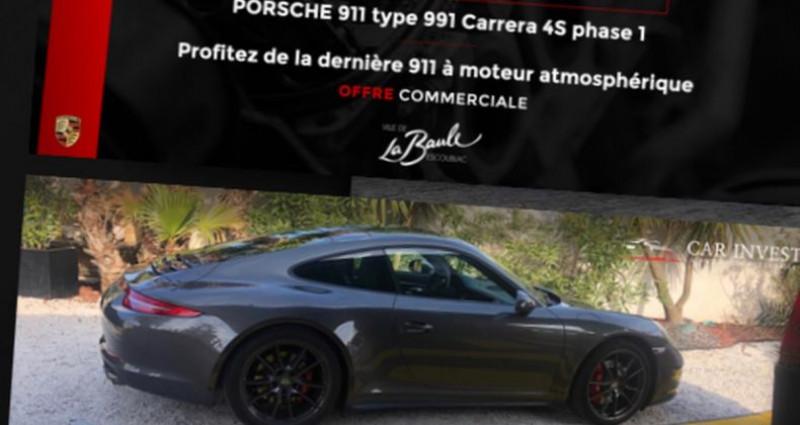 Porsche 911 Type 991 type 991 4s 3.8i 400 pdk 2013 Gris occasion à LA BAULE