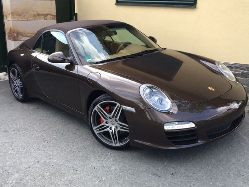 Porsche 911 Type 997 3.8 Carrera S Cabriolet Marron occasion à BEAUPUY - photo n°5