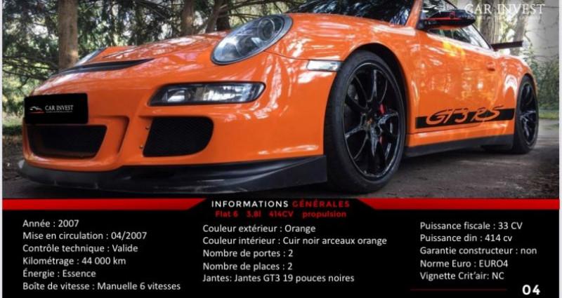 Porsche 911 Type 997 type 997 gt3 rs tat exceptionnel1 Orange occasion à LA BAULE - photo n°6