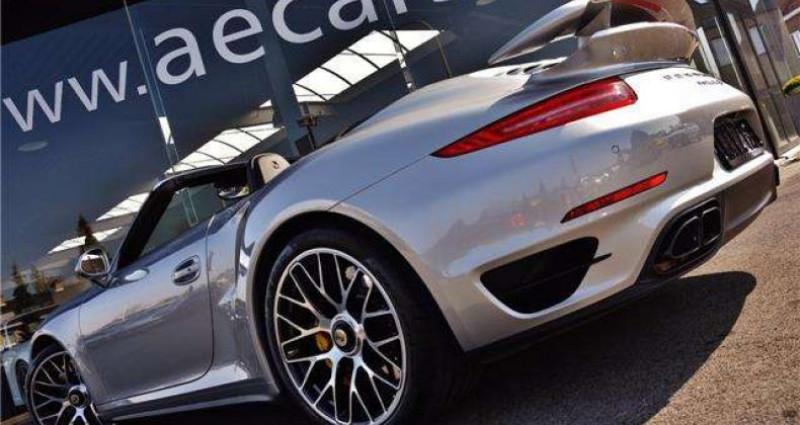 Porsche 911 - TURBO S - CABRIO - PDK - CARBON - BOSE - CERAMIC - Gris occasion à IZEGEM - photo n°6