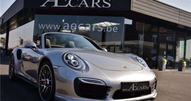 Porsche 911 - TURBO S - CABRIO - PDK - CARBON - BOSE - CERAMIC - Gris occasion à IZEGEM - photo n°7