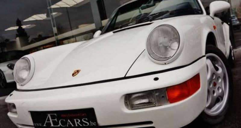 Porsche 911 964 CARRERA 4 CABRIOLET FULL HISTORY - - Blanc occasion à IZEGEM