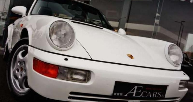 Porsche 911 964 CARRERA 4 CABRIOLET FULL HISTORY - - Blanc occasion à IZEGEM - photo n°2