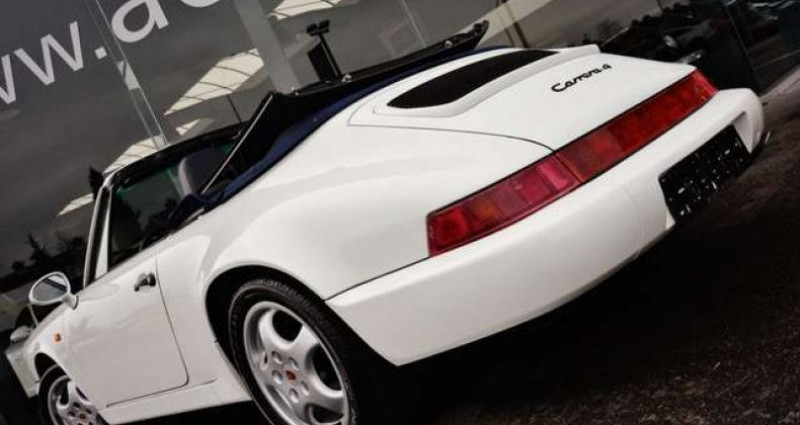 Porsche 911 964 CARRERA 4 CABRIOLET FULL HISTORY - - Blanc occasion à IZEGEM - photo n°6