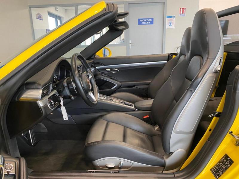 Porsche 911 CARRERA CABRIOLET S 3.0i 420 PDK Jaune occasion à SAINT-GREGOIRE - photo n°8