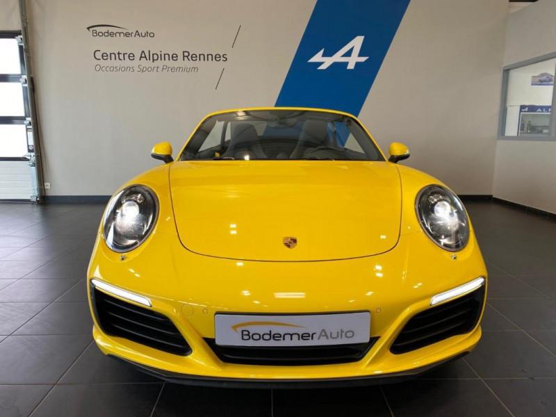 Porsche 911 CARRERA CABRIOLET S 3.0i 420 PDK Jaune occasion à SAINT-GREGOIRE - photo n°4