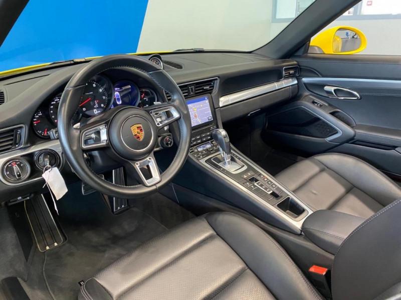 Porsche 911 CARRERA CABRIOLET S 3.0i 420 PDK Jaune occasion à SAINT-GREGOIRE - photo n°7