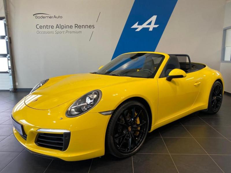 Porsche 911 CARRERA CABRIOLET S 3.0i 420 PDK Jaune occasion à SAINT-GREGOIRE
