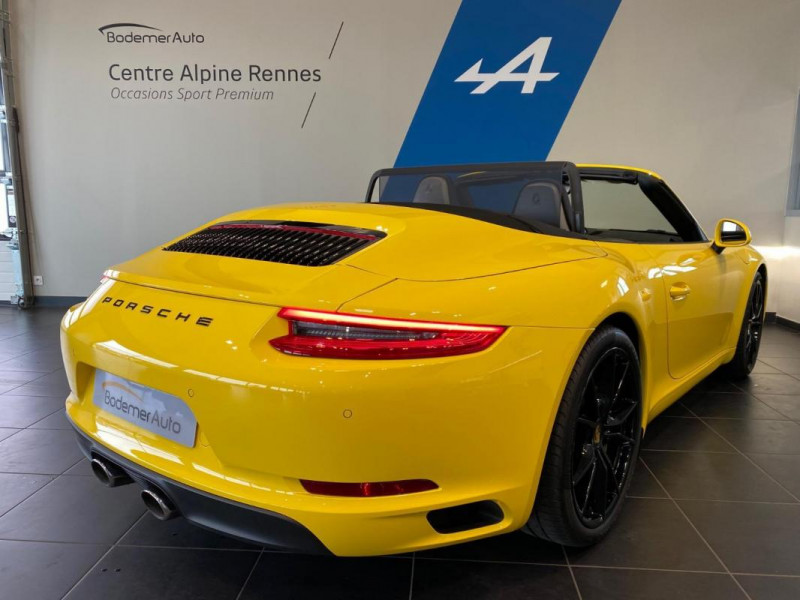 Porsche 911 CARRERA CABRIOLET S 3.0i 420 PDK Jaune occasion à SAINT-GREGOIRE - photo n°3
