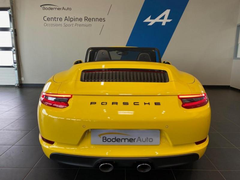 Porsche 911 CARRERA CABRIOLET S 3.0i 420 PDK Jaune occasion à SAINT-GREGOIRE - photo n°5