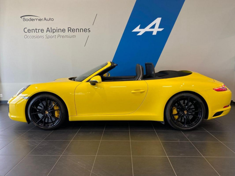 Porsche 911 CARRERA CABRIOLET S 3.0i 420 PDK Jaune occasion à SAINT-GREGOIRE - photo n°2