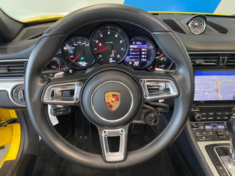 Porsche 911 CARRERA CABRIOLET S 3.0i 420 PDK Jaune occasion à SAINT-GREGOIRE - photo n°9