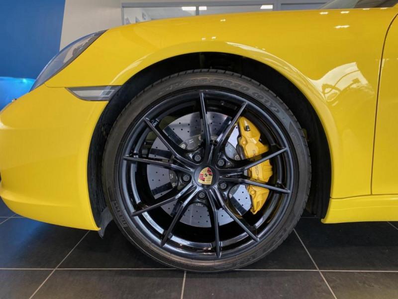 Porsche 911 CARRERA CABRIOLET S 3.0i 420 PDK Jaune occasion à SAINT-GREGOIRE - photo n°6