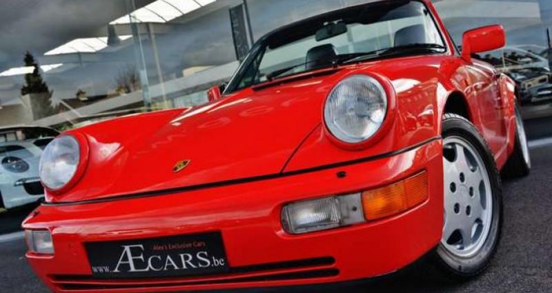 Porsche 964 - CARRERA 4 - CABRIO - FULL HISTORY - EUROPEAN - Rouge occasion à IZEGEM