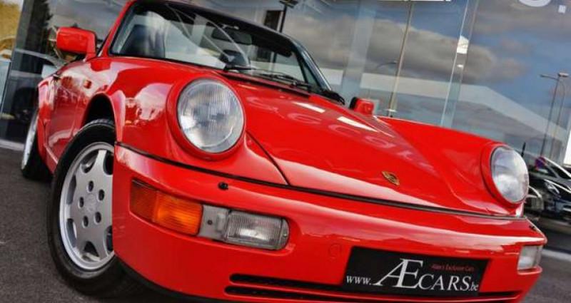 Porsche 964 - CARRERA 4 - CABRIO - FULL HISTORY - EUROPEAN - Rouge occasion à IZEGEM - photo n°2