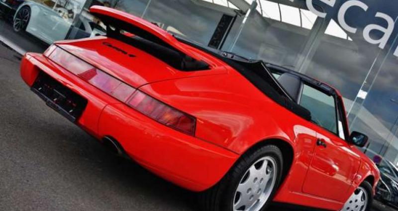 Porsche 964 - CARRERA 4 - CABRIO - FULL HISTORY - EUROPEAN - Rouge occasion à IZEGEM - photo n°5