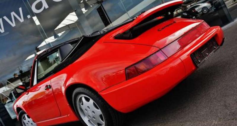 Porsche 964 - CARRERA 4 - CABRIO - FULL HISTORY - EUROPEAN - Rouge occasion à IZEGEM - photo n°6