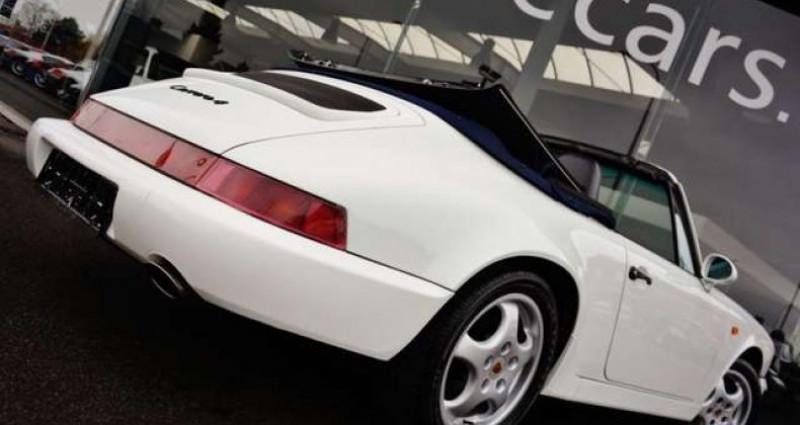Porsche 964 CARRERA 4 CABRIOLET FULL HISTORY - - Blanc occasion à IZEGEM - photo n°5