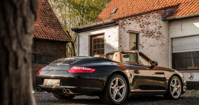 Porsche 997 911 CARRERA 4 - CABRIO - TIPTRONIC - BELGIAN Noir occasion à IZEGEM