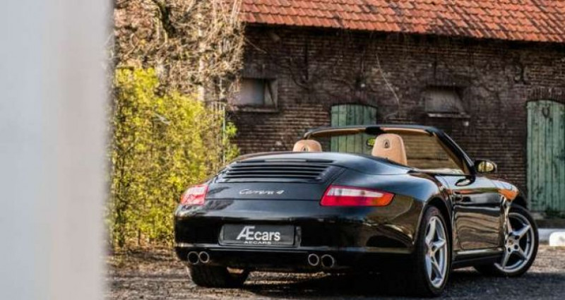 Porsche 997 911 CARRERA 4 - CABRIO - TIPTRONIC - BELGIAN Noir occasion à IZEGEM - photo n°3