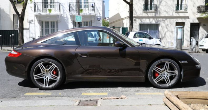 Porsche 997 PORSCHE 997 TARGA 4S TIPTRONIC S 355CV SUPERBE Marron occasion à BOULOGNE BILLANCOURT - photo n°6
