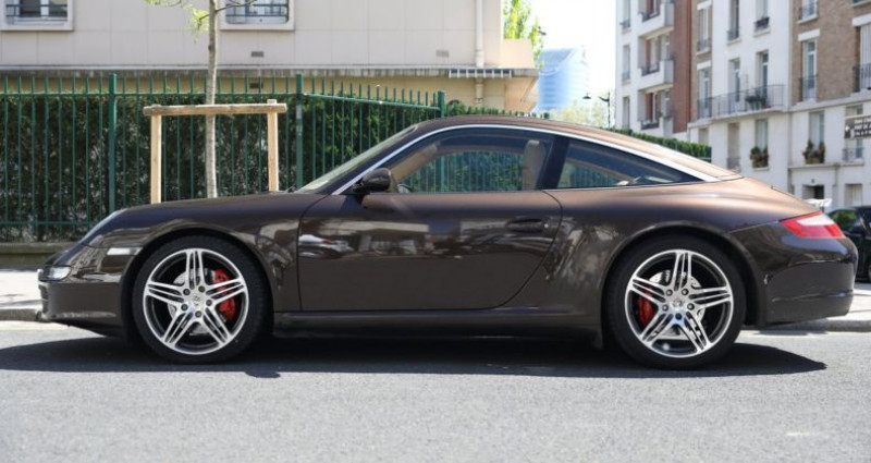 Porsche 997 PORSCHE 997 TARGA 4S TIPTRONIC S 355CV SUPERBE Marron occasion à BOULOGNE BILLANCOURT - photo n°2