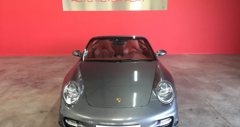 Porsche 997 TURBO Cabriolet Gris occasion à SAINT ANDRE DE CORCY - photo n°2