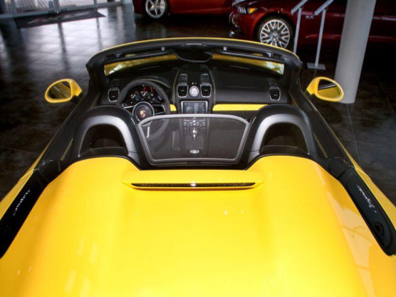 Porsche Boxster Spyder 3.8 375 cv Jaune occasion à BEAUPUY - photo n°7