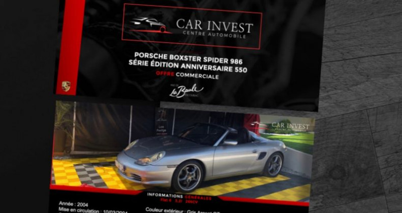 Porsche Boxster s spider 550 3.2i 266 numeroter Gris occasion à LA BAULE