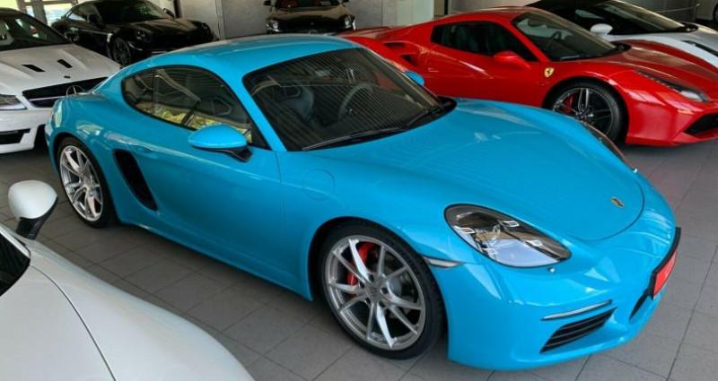 Porsche Cayman 2.5 350ch S PDK Bleu occasion à Boulogne-Billancourt - photo n°5