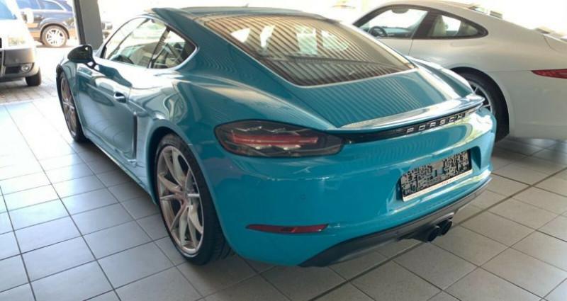 Porsche Cayman 2.5 350ch S PDK Bleu occasion à Boulogne-Billancourt - photo n°2