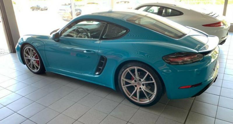 Porsche Cayman 2.5 350ch S PDK Bleu occasion à Boulogne-Billancourt - photo n°4