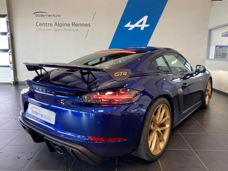 Porsche Cayman GT4 4.0i 420 ch Bleu occasion à SAINT-GREGOIRE - photo n°3