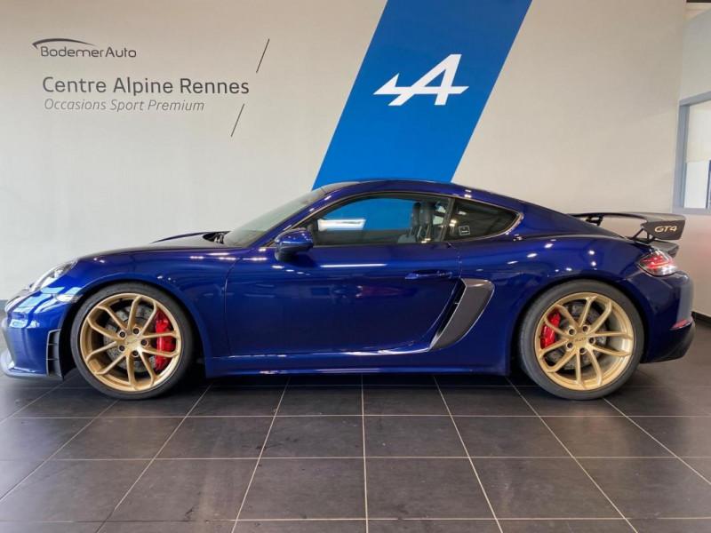Porsche Cayman GT4 4.0i 420 ch Bleu occasion à SAINT-GREGOIRE - photo n°2