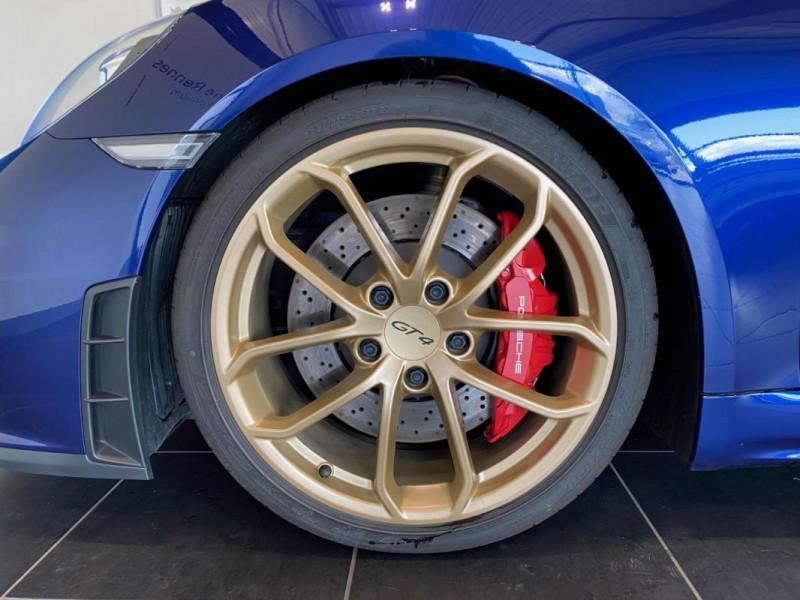 Porsche Cayman GT4 4.0i 420 ch Bleu occasion à SAINT-GREGOIRE - photo n°6