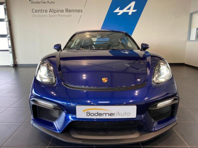 Porsche Cayman GT4 4.0i 420 ch Bleu occasion à SAINT-GREGOIRE - photo n°4