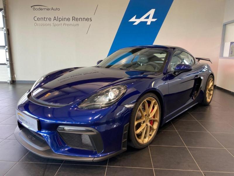 Porsche Cayman GT4 4.0i 420 ch Bleu occasion à SAINT-GREGOIRE