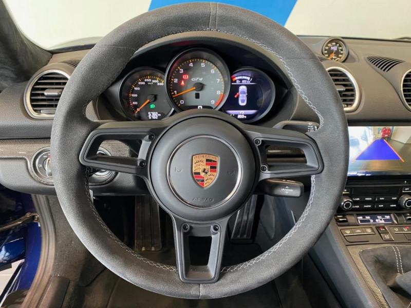 Porsche Cayman GT4 4.0i 420 ch Bleu occasion à SAINT-GREGOIRE - photo n°9