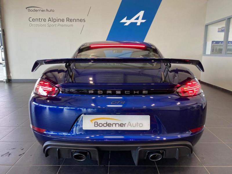 Porsche Cayman GT4 4.0i 420 ch Bleu occasion à SAINT-GREGOIRE - photo n°5