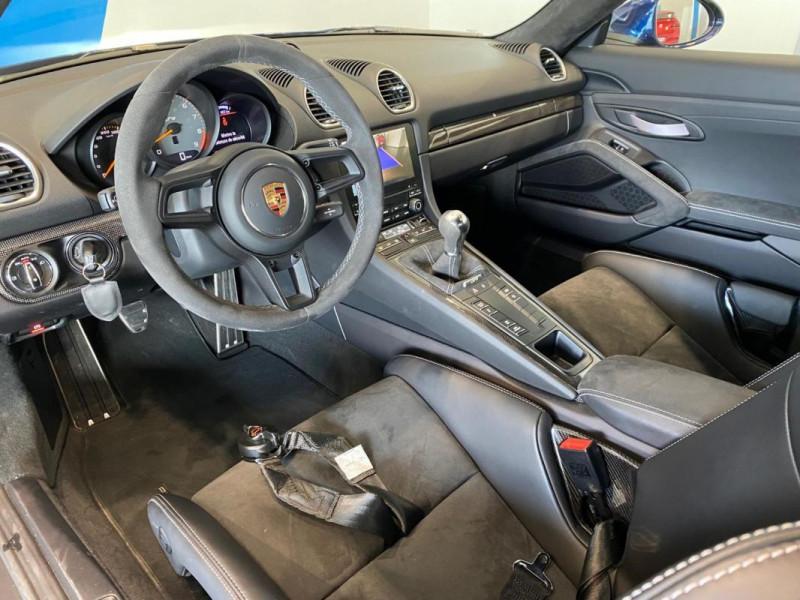Porsche Cayman GT4 4.0i 420 ch Bleu occasion à SAINT-GREGOIRE - photo n°7