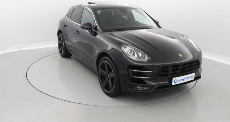 Porsche Macan TURBO 400 CV PDK Noir occasion à Entzheim - photo n°5